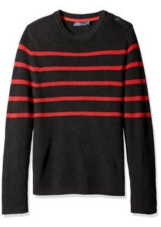 Nautica Men's Breton Stripe Crew Neck Sweater