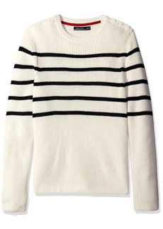 Nautica Men's Breton Stripe Crew Neck Sweater