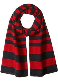 Nautica Men's Breton Stripe Scarf RED Rouge Multi