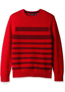 Nautica Men's Breton Stripe Sweater Red S