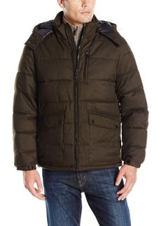 Nautica Men's Brushed Harringbone Jacket with Removable Hood  XL