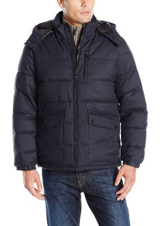 Nautica Men's Brushed Harringbone Jacket with Removable Hood  XL