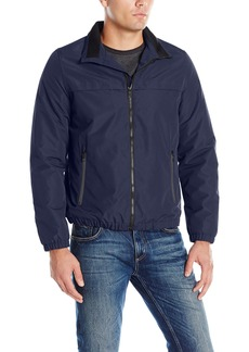 Nautica Men's Brushed Radiance Zip Front Jacket  M
