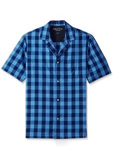 Nautica Men's Buffalo Plaid Short Sleeve Cotton Pajama Top