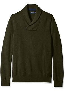 Nautica Men's Button Shawl Collar Sweater  S