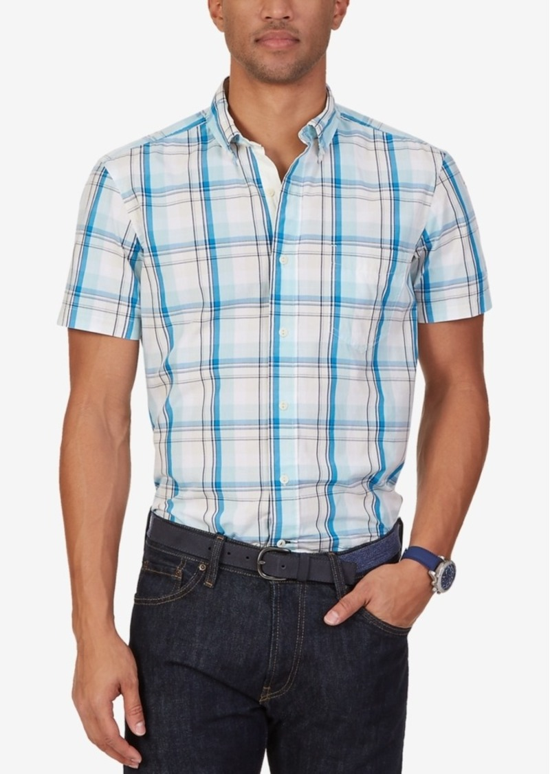 Nautica Men's Byron Plaid Short-Sleeve Shirt