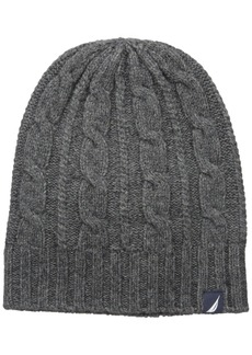 Nautica Men's Cable Knit Hat
