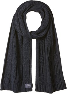 Nautica Men's Cable Knit Scarf TRUE NAVY