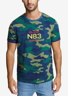 Nautica Men's Camo-Print Logo T-Shirt