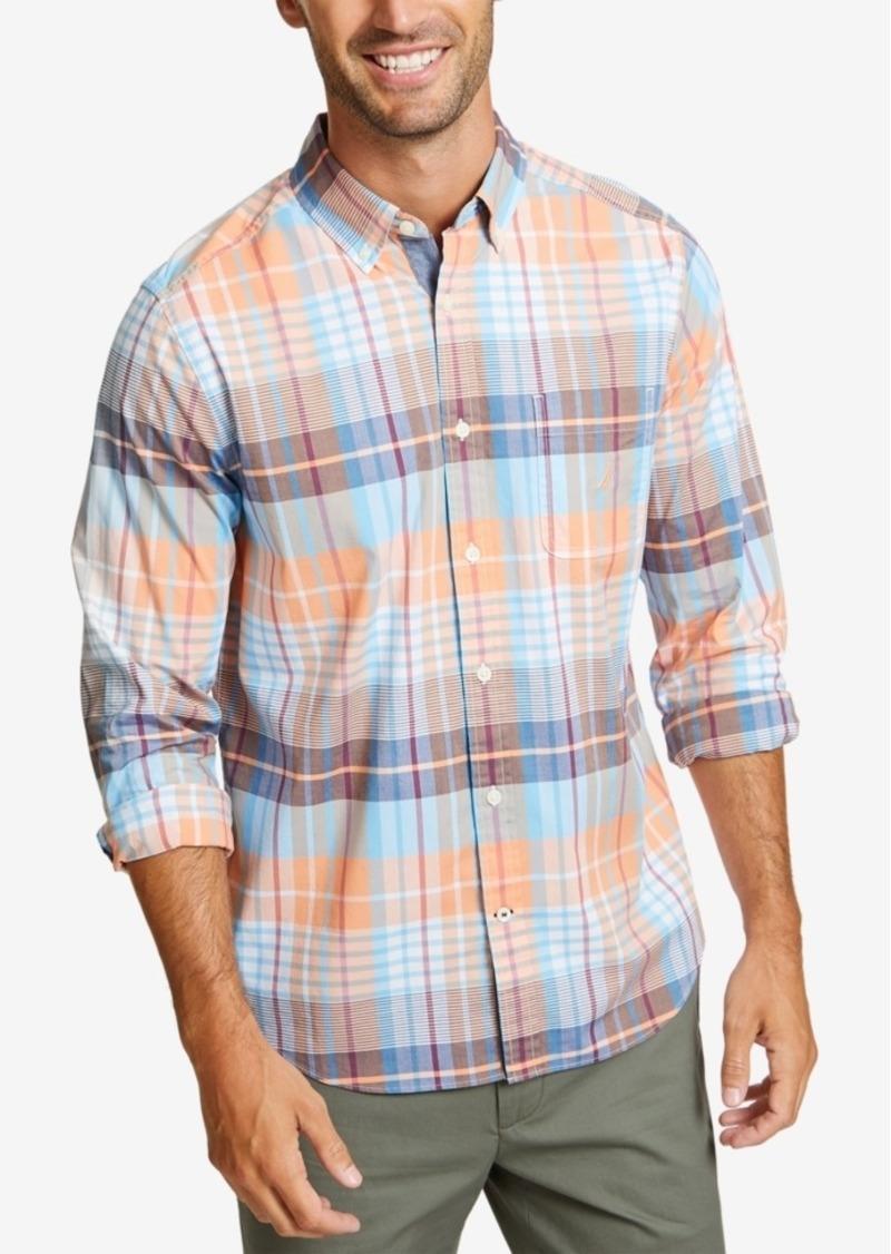 Nautica Men's Casual Warm Plaid Shirt
