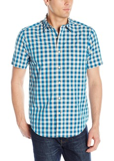 Nautica Men's Star Check Short Sleeve Shirt  Medium