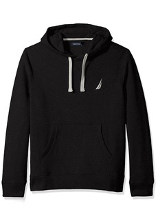 Nautica Men's Chest Logo Pullover Hoodie Sweater true black X-Large