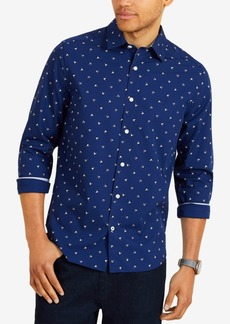 Nautica Men's Classic Fit All-Over Flag Print Shirt