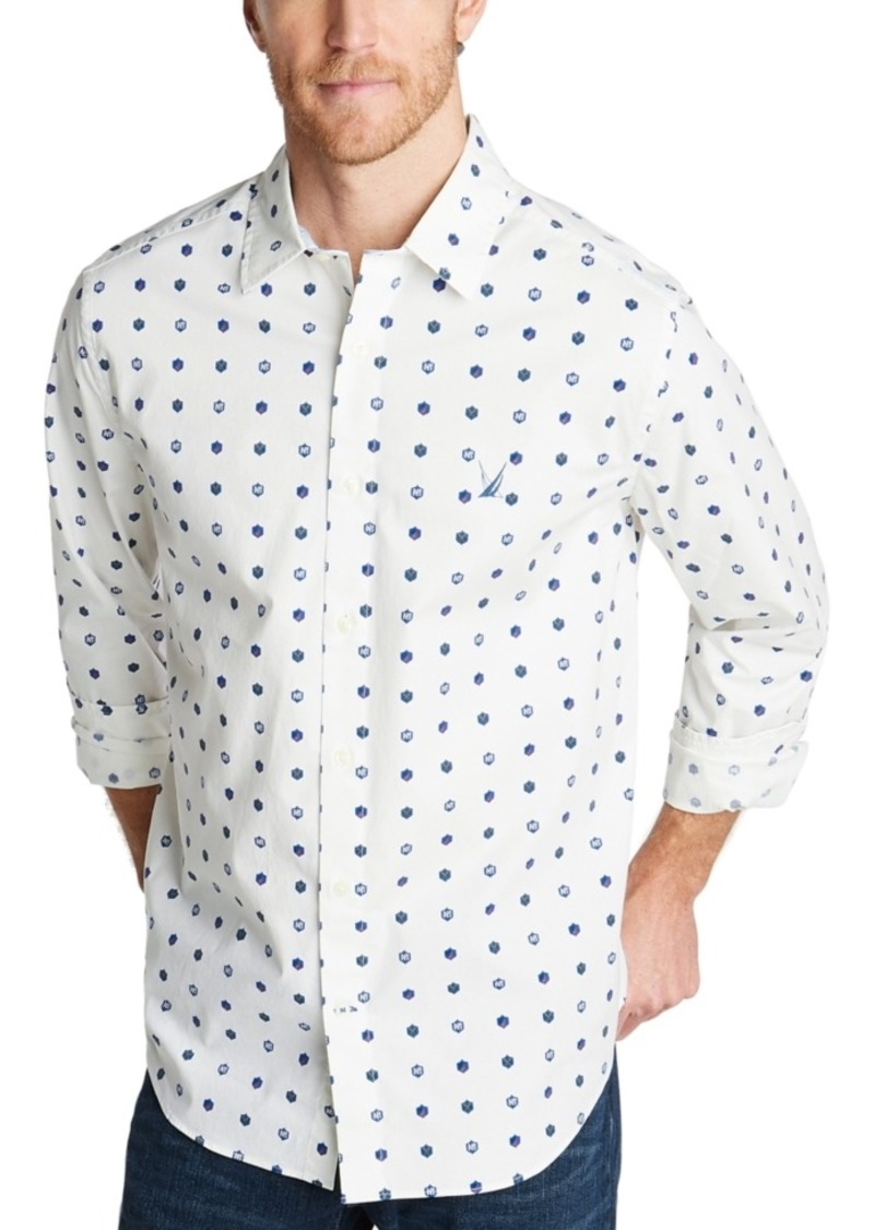Nautica Men's Classic-Fit Blue Sail Casual Print Shirt, Created for Macy's