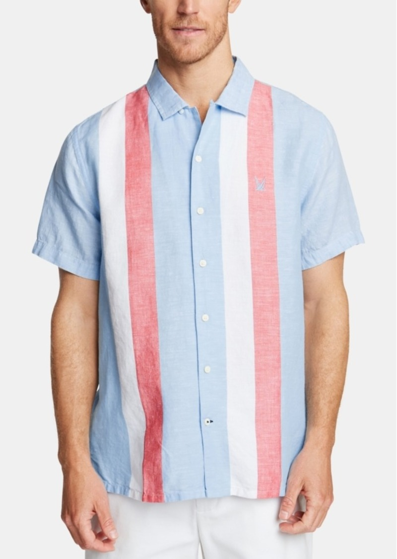 Nautica Men's Classic Fit Blue Sail Striped Camp Collar Shirt, Created for Macy's