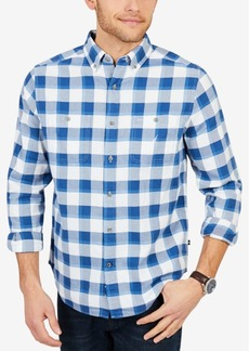 Nautica Men's Classic Fit Buffalo Plaid Flannel Shirt