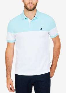 Nautica Men's Classic Fit Colorblocked Interlock Polo