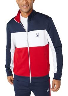 Nautica Men's Classic-Fit Colorblocked Track Jacket