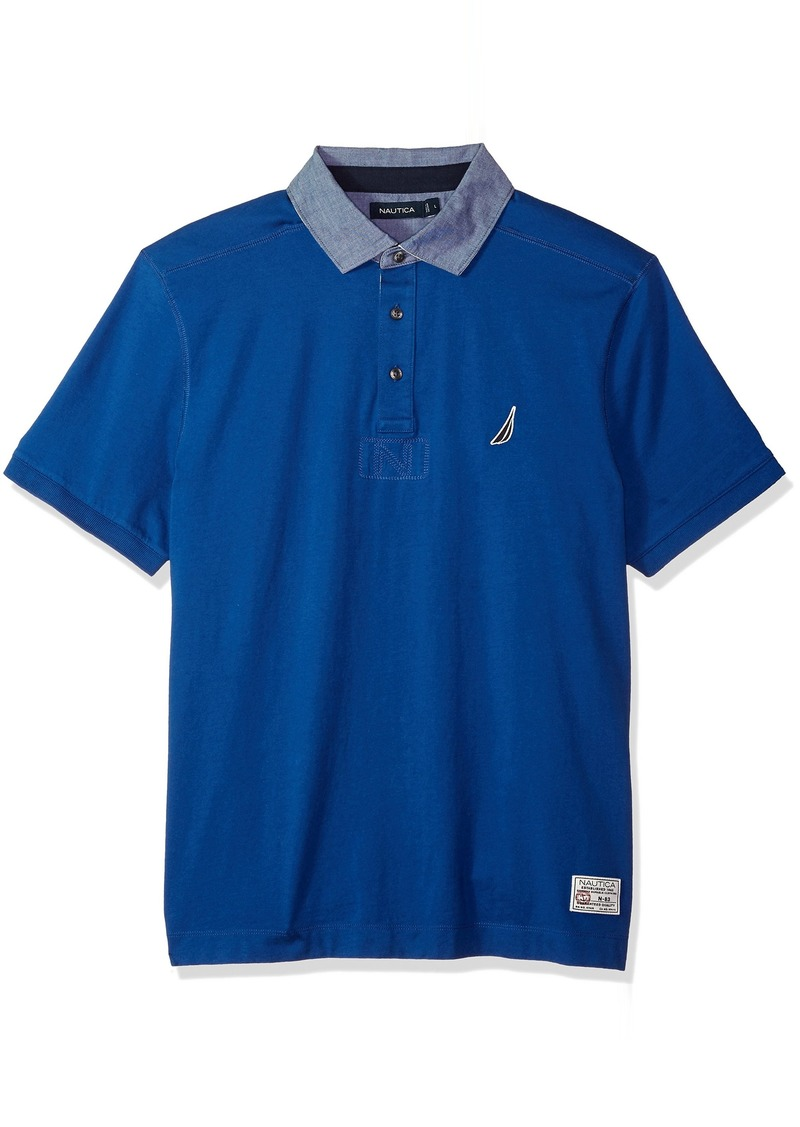 Nautica Men's Classic Fit Cotton Jersey Solid Polo Shirt