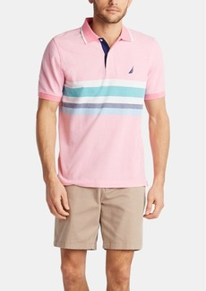 Nautica Men's Classic Fit Cotton Striped Oxford Polo