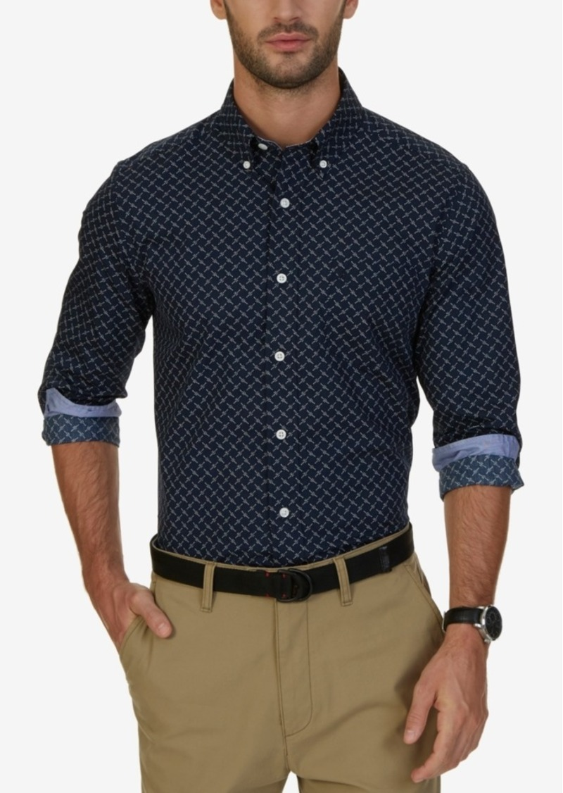 Nautica Men's Classic-Fit Cross-Dot Shirt