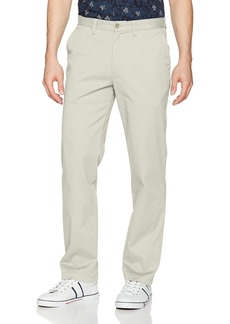 Nautica Men's Classic Fit Flat Front Stretch Solid Chino Deck Pant Stone 36W 30L