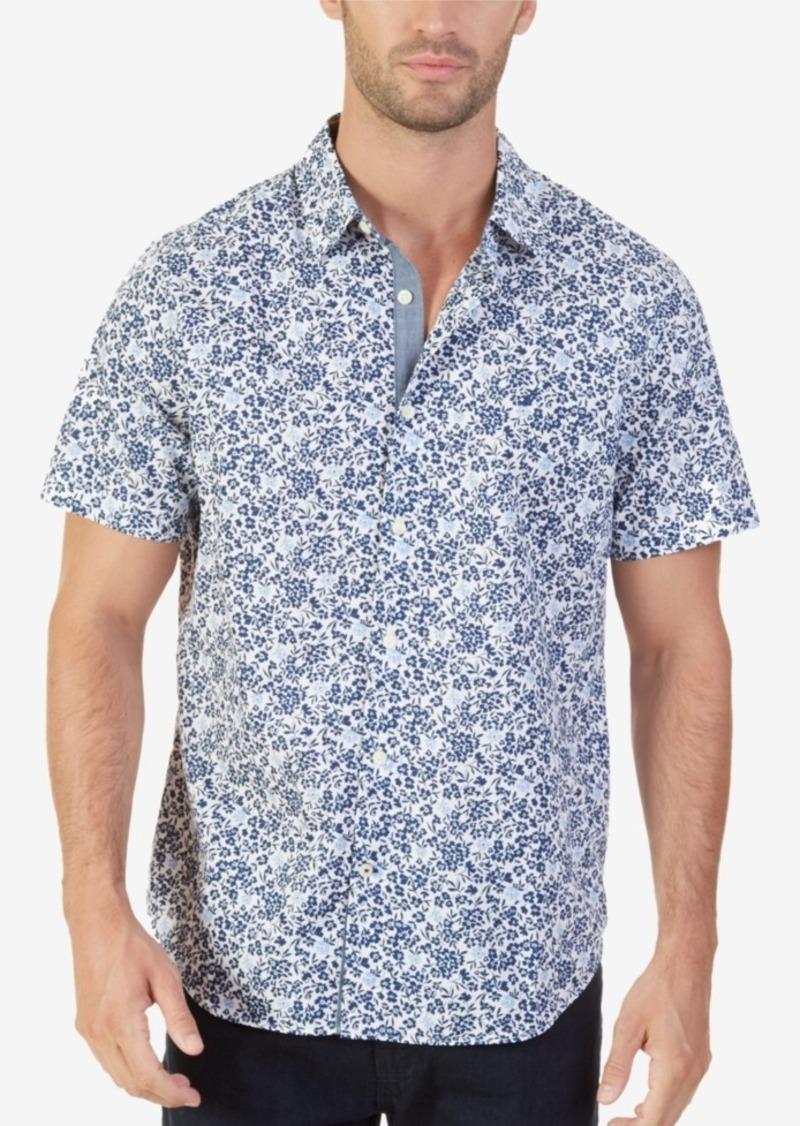 5cba4144c2fd06 Nautica Nautica Men's Classic-Fit Floral-Print Shirt   Casual Shirts