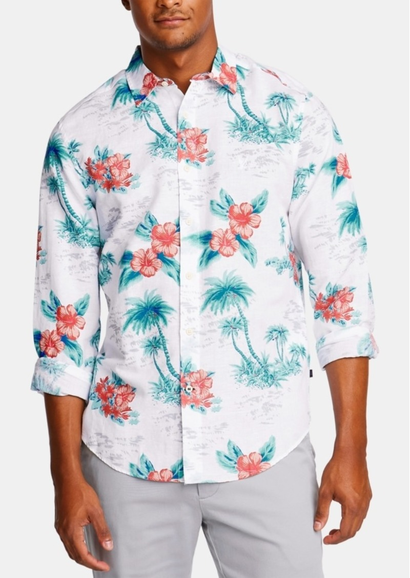 Nautica Men's Classic Fit Floral Shirt, Created for Macy's
