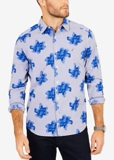 Nautica Men's Classic Fit Floral Striped Shirt