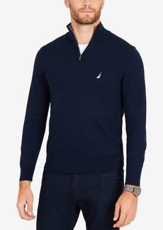 Nautica Men's Classic Fit Quarter-Zip Sweater