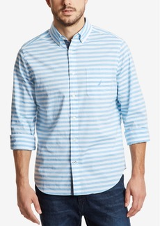Nautica Men's Classic Fit Horizontal Striped Shirt