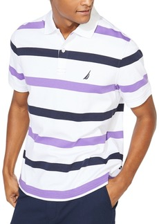 Nautica Men's Classic-Fit Interlock Stripe Polo Shirt