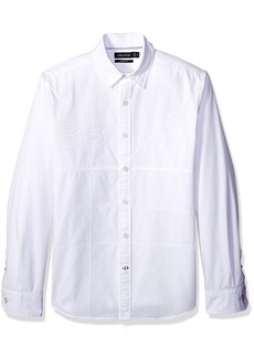 Nautica Men's Classic Fit Long Sleeve Heritage Logo Button Down Shirt