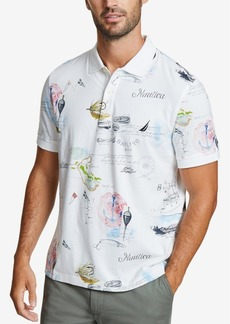 Nautica Men's Classic Fit Maritime Printed Polo