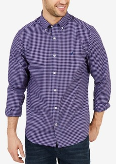 Nautica Men's Classic-Fit Mini-Plaid Shirt