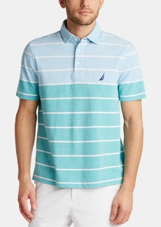 Nautica Men's Classic Fit Oxford Stripe Polo