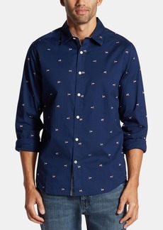 Nautica Men's Classic-Fit Performance Stretch Printed Oxford Shirt, Created for Macy's