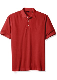 Nautica Men's Classic Fit Pique Polo Shirt Red M