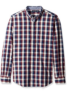 Nautica Men's Classic Fit Marine Plaid Shirt  S