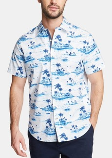Nautica Men's Classic Fit Scenic-Print Button-Down Shirt