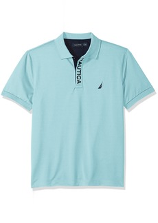 Nautica Men's Classic Fit Short Sleeve Solid Moisture Wicking Polo Shirt