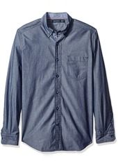 Nautica Men's Classic Fit Solid Chambray Shirt  S