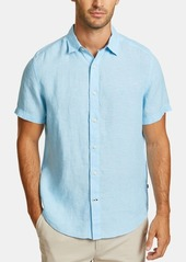 Nautica Men's Classic-Fit Solid Linen Shirt