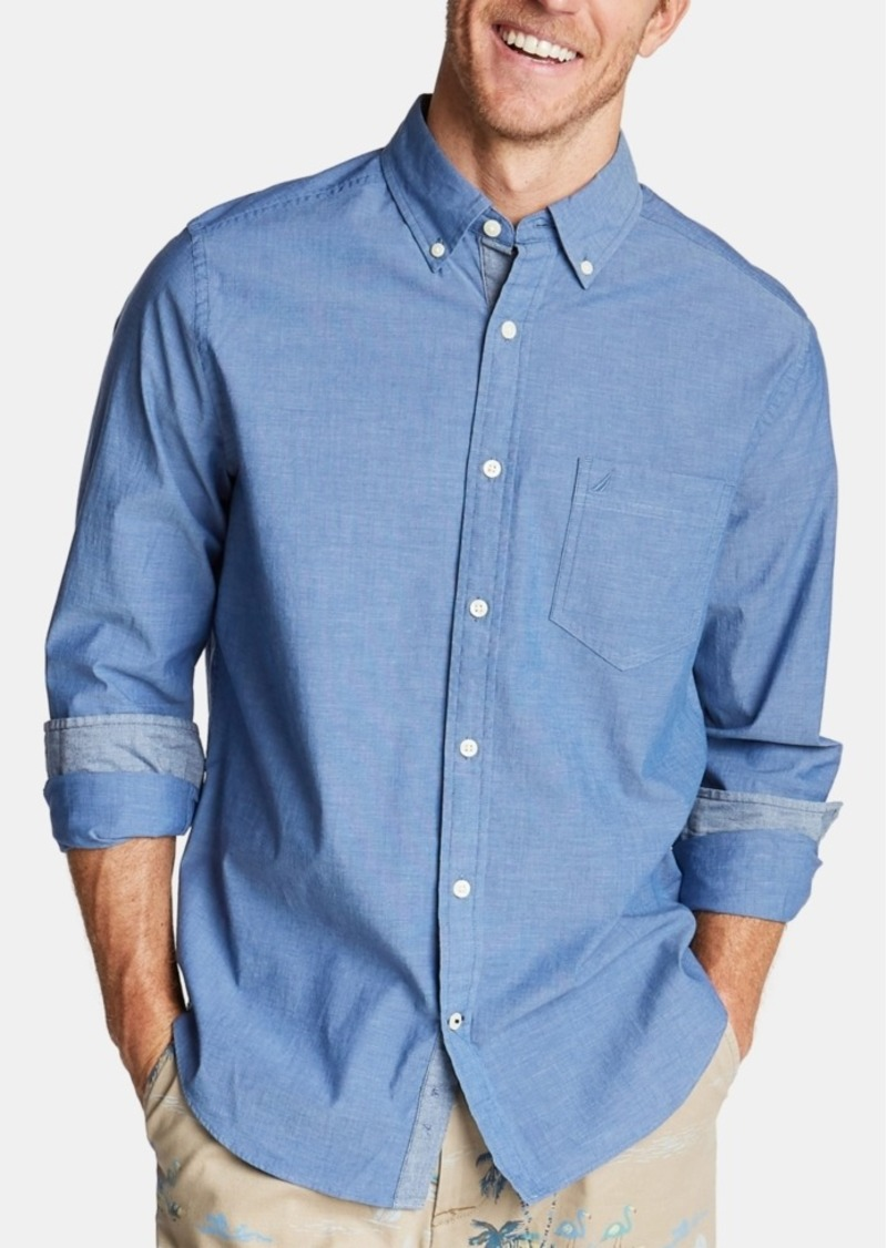 Nautica Men's Classic-Fit Stretch Button-Down Shirt