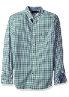 Nautica Men's Classic Fit Stretch Gingham Long Sleeve Button Down Shirt