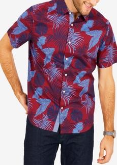 Nautica Men's Classic-Fit Stretch Palm-Print Oxford Shirt