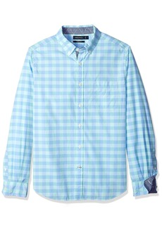 Nautica Men's Classic Fit Stretch Plaid Long Sleeve Button Down Shirt