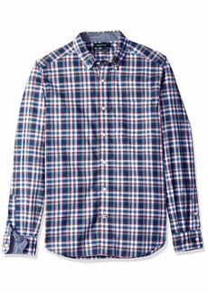 Nautica Men's Classic Fit Stretch Plaid ong Sleeve Button Down Shirt  arge