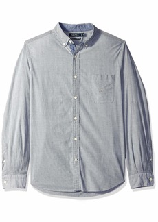 Nautica Men's Classic Fit Stretch Striped Long Sleeve Button Down Shirt