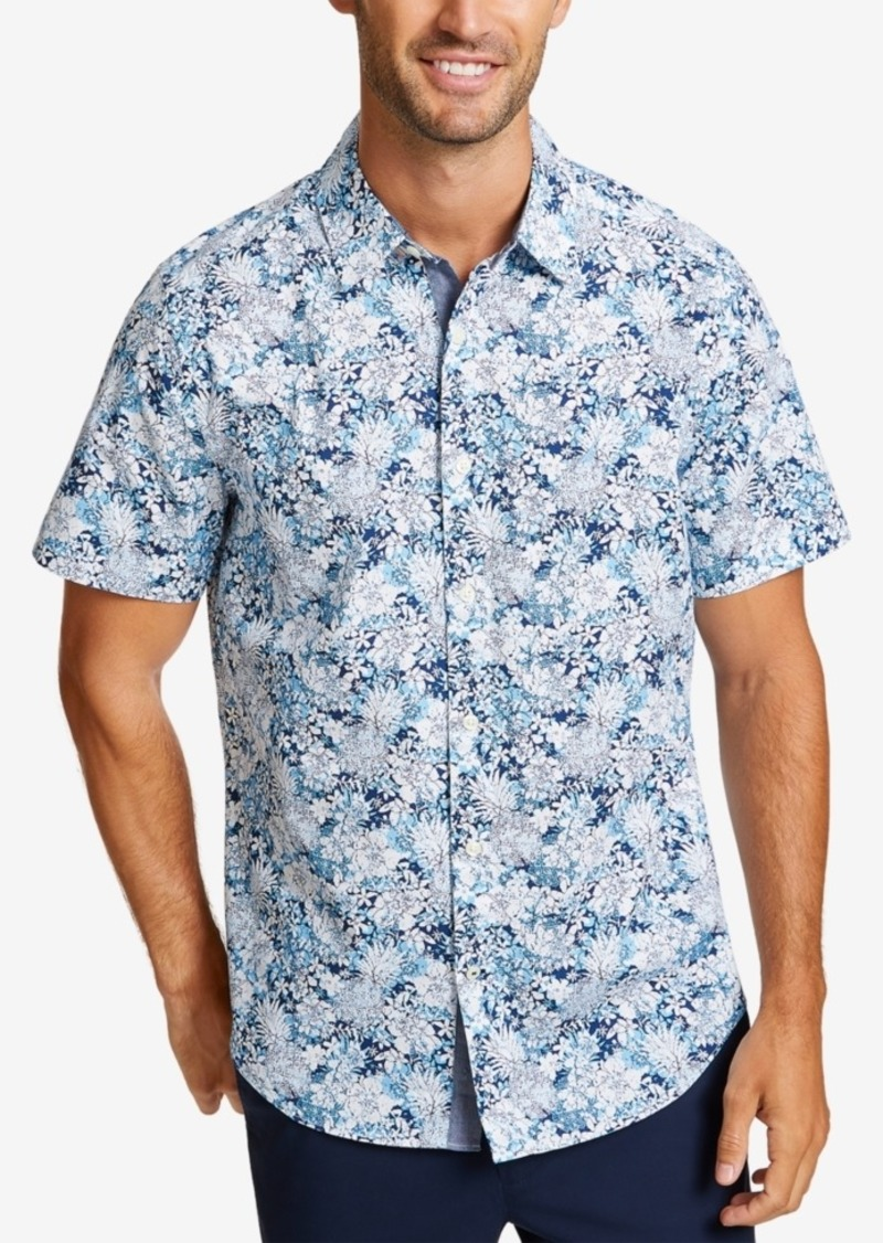 Nautica Men's Classic-Fit Stretch Tropical-Print Shirt